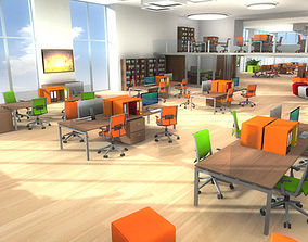 3D Office Furniture realtime