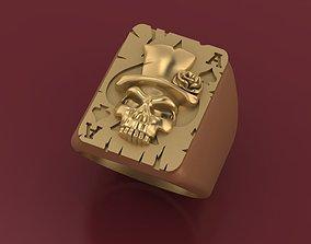 Skull poker ring poker pendant medal 3D printable model