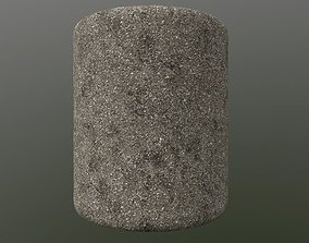 3D PBR Scanned Gravel Asphalt
