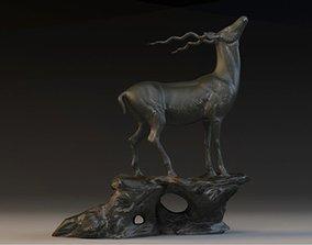 antelope sculpture 3D model