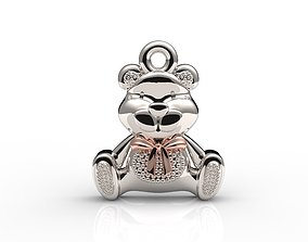 Teddy bear pendant 3D print model cad