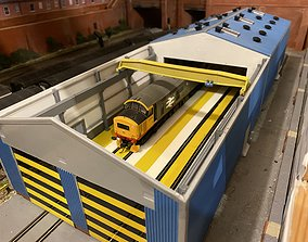 OO Loco Shed Overhead Crane to fit 3D print model 2