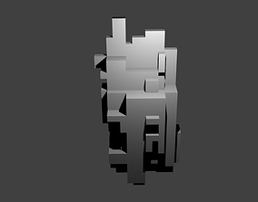 Voxel Wall Hanging No 3 3D print model