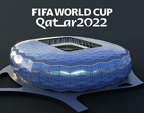3D model Education city stadium 2022 fifa world cup qatar