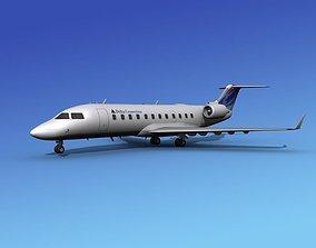 3D model Canadair CRJ100 Delta Connection