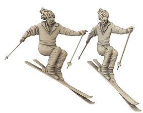 3D print model sports bas skier