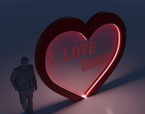 man 3D Heart Decor