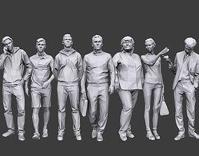 Lowpoly People Casual Pack Volume 17 3D model