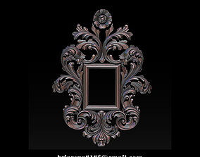 Mirror classical carved frame 3d Reliefs for cnc 1