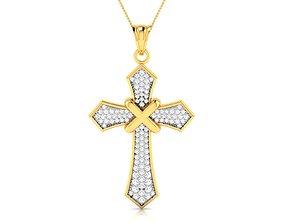 Holy cross pendant 3dm render detail brilliant brillant