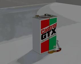 3D model Castrol GTX Engine OIl Tin 5Ltr