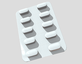 3D model Pills in blister 2