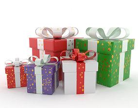 3D model present boxes