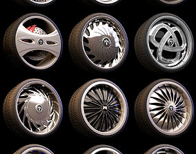 3D 15 Beautiful rims Pack