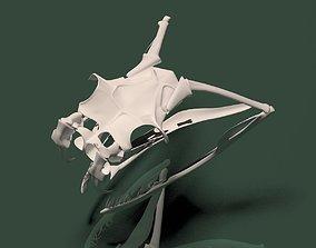 3d model snake skull rigged game-ready