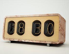 3D radio vintage clock