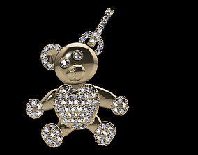 Teddy diamond pendant 3D printable model