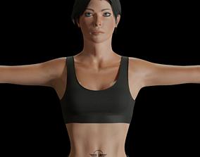 Female Commando 3D asset