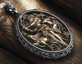 3D print model Diana the huntress pendant
