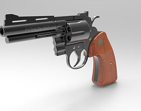 Police python revolver 3D model