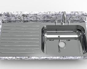 3D printable model dining Kitchen Sink 1