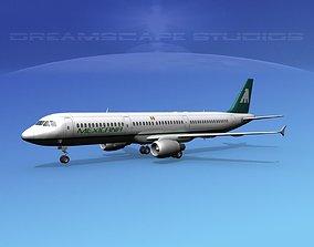 Airbus A321 Mexicana 3D
