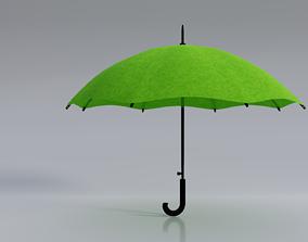 Green Umbrella 3D model