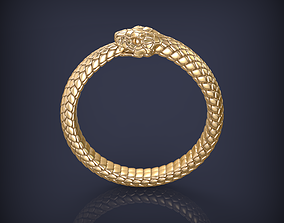 Snake Ouroboros Jewelry Ring 3d print model