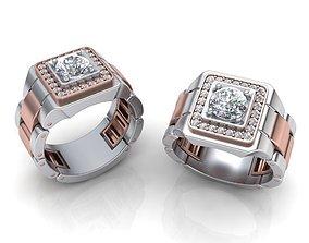 Signet Men ring Watches design ring printable 3d model