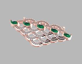 New jewelry diamond pendent 3D printable model