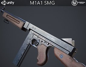 3D model M1A1 Submachine Gun