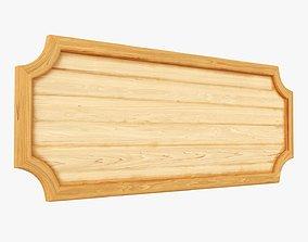 Wooden plate decorative 3D model