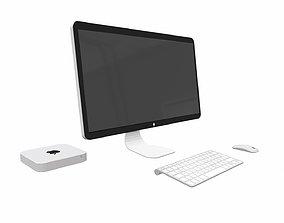 Office Pc - Low Poly - PBR 3D asset