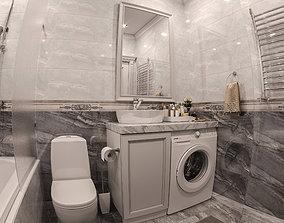 Interior Neoclassic Bathroom 07 3D model