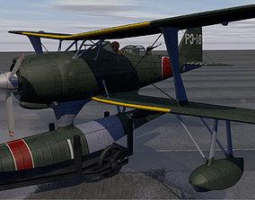 airplane 3D model Mitsubishi F1M2 Zerokan - aka Pete