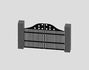 3D animated Building Gate