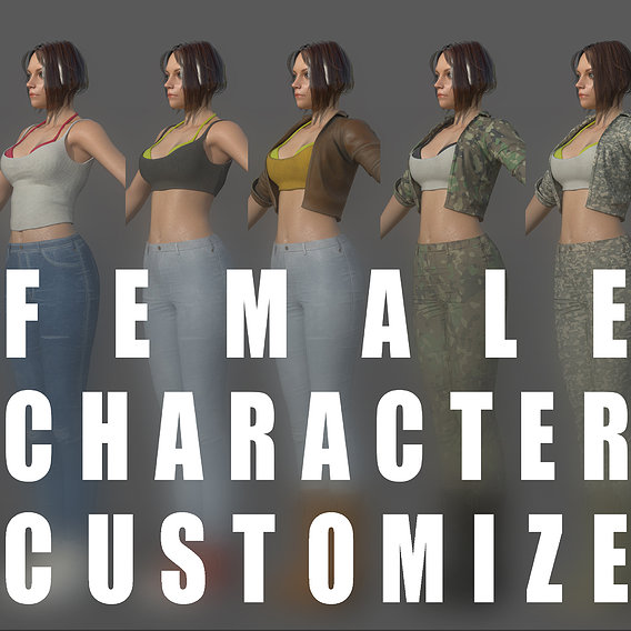Character - Female Girl Customize Bundle Pack
