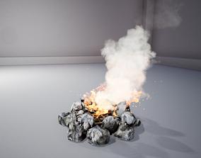 Campfire 3D asset