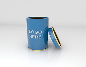 Container Tin Round 3D Assets