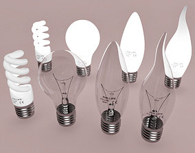 3D LED light bulbs lamps