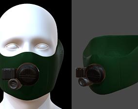 Gas mask helmet 3d model scifi realtime 1