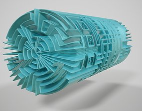 Maze Tube Abstract Item 3D