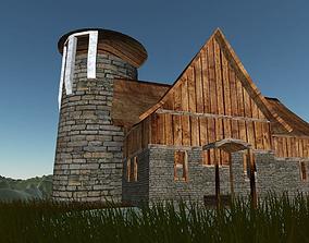House Tavern Open Building FBX 3D asset