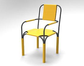 Plus Chair Steel tube chair armchair 3D