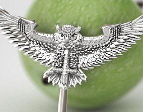 Fighting eagle owl 3D printable model