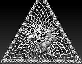 Pyramid hours pendant 3D print model