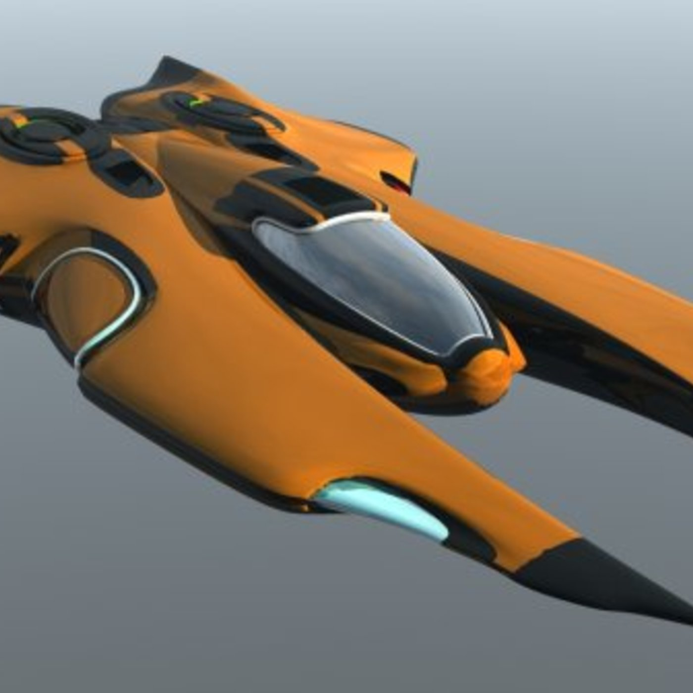 Space ship Low-poly 3D model
