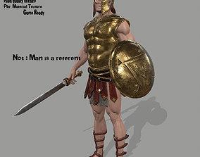 glaive 3D asset gladiator armor