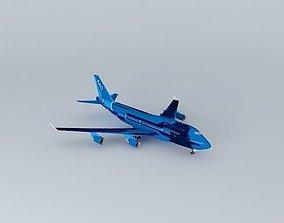 AirAtlanticOcean B747-400 with interior 3D