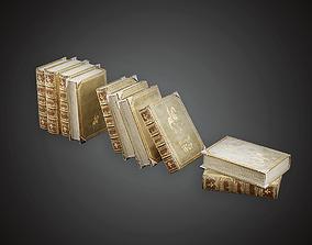 3D asset Antique Books - MVL - PBR Game Ready